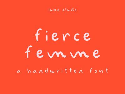 Fierce Femme Handwritten Font display font branding font handwritten font handwriting font handwritten typeface type typographic typo typography
