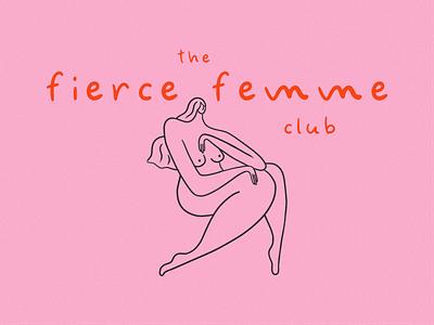 Femme font hand drawn hand drawn handwritten cute feminine logo design branding logotype logo