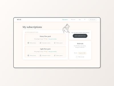 Dashboard Beijeped user experience dashboard design dashboard ui dashboard app menstrual product visual design menstrual