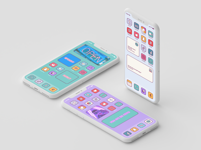 Groovy home screen ios 14 retro mobile grrovy home screen retro home screen retro ios 14 ios 14 home screen mobile retro icons icon bundle iconset icons icon pack retro funky groovy