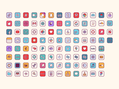 Retro icons groovy home screen funky and fresh funky retro design retro icon icon set iconsets illustration retro illustration retro icons funky icons retrowave bold colorful iconset