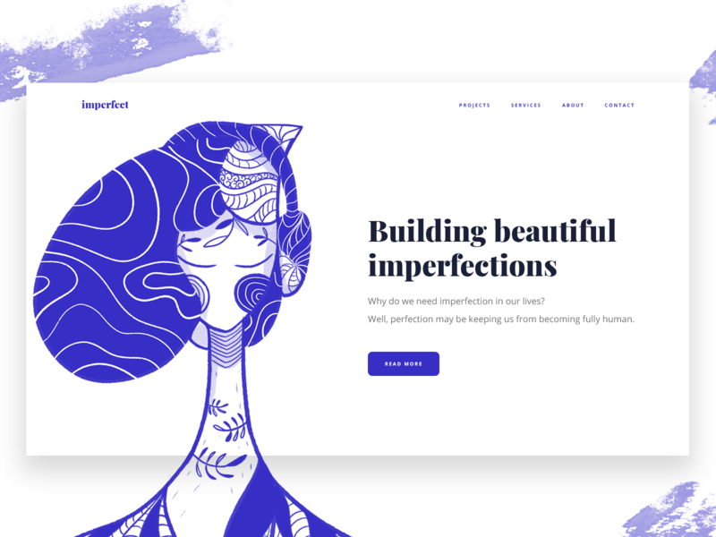 Building beautiful imperfections series #3 procreate website web design web user interface ui home page hero image hero illustration graphic design digital art design art character illustration