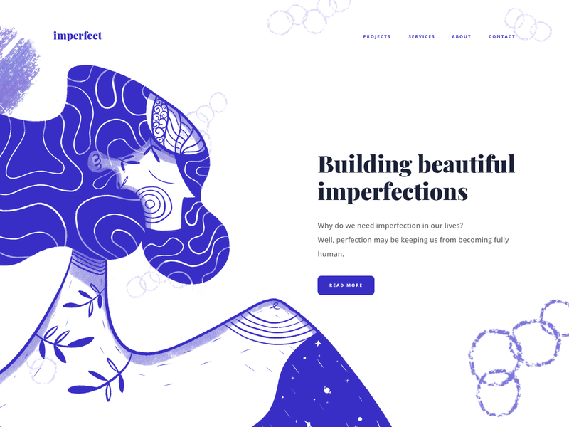Building beautiful imperfections series #5 hero illustration web design user interface home page graphic design website ui illustration hero digital art character