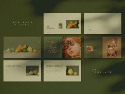 Abstract Lullaby UI Template for photography portfolio