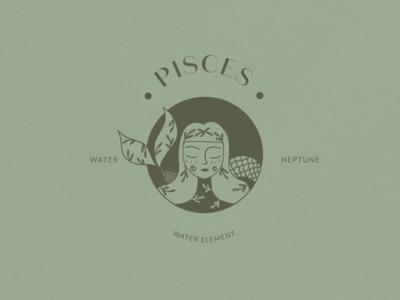 Pisces Logo Horoscope Icon