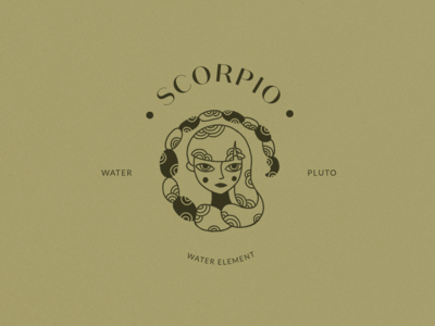 Scorpio Logo Stamp Horoscope Icon