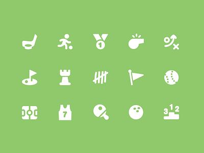 Pixi Icons - Sports and Games icon icon set pixi vector sports hockey whistle golf chess flag baseball basketball