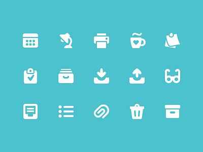 Pixi Icons - Office icon icon set pixi vector