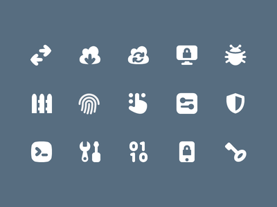 Pixi Icons - Network and Security icon icon set pixi vector svg