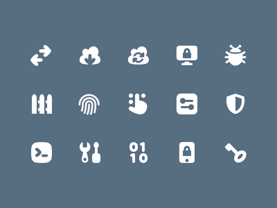 Pixi Icons - Network and Security