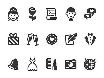 Wedding Icons wedding black mono ui icon set icons