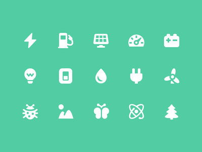 Pixi Icons - Energy and Environment green environment energy design icons vector ui pixi icon set icon