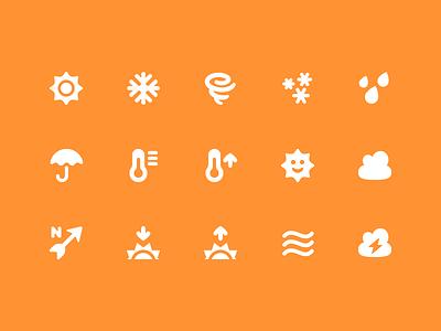 Pixi Icons - Weather weather ui vector icons pixi icon set icon