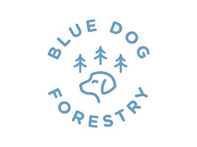 Blue Dog Logo identity blue dog forestry dog blue mark logo