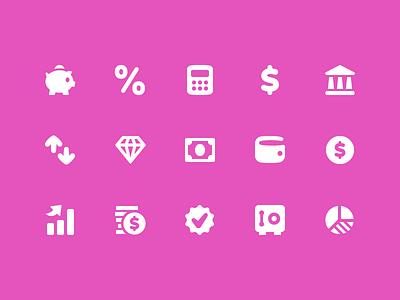 Pixi Icons - Finance pixi money finance ui icon set icons