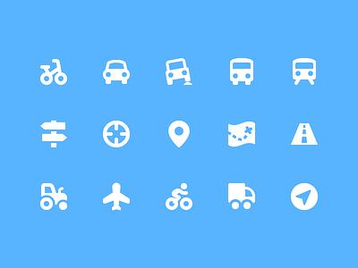 Pixi Icons - Transportation icons icon set ui transportation pixi