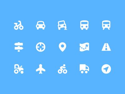 Pixi Icons - Transportation