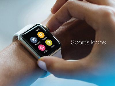 Sports Icons circle ui icon set icons