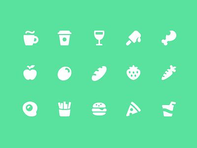 Pixi Icons - Food & Drink vector ui pixi interface icon set icons icon