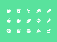 Pixi Icons - Food & Drink