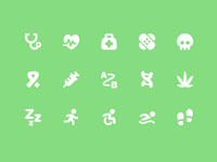 Pixi Icons - Health & Fitness