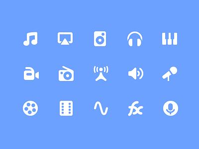 Pixi Icons - Audio & Video interface vector ui icon set icons icon pixi