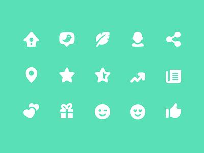 Pixi Icons - Social interface vector ui icon set icons icon pixi