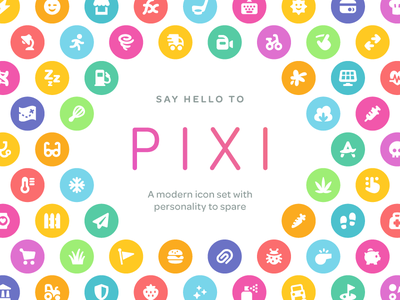 Pixi Icons glyph symbol pack interface vector ui icon set icons icon pixi
