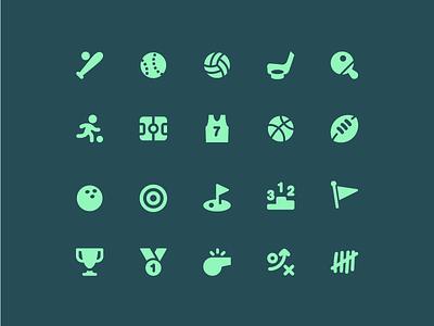 Sports Icons whistle vector sports pixi icon set icon basketball baseball