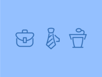 Open Line Business Icons