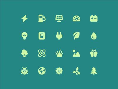 Energy + environment icons