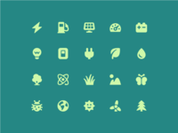 Energy + environment icons