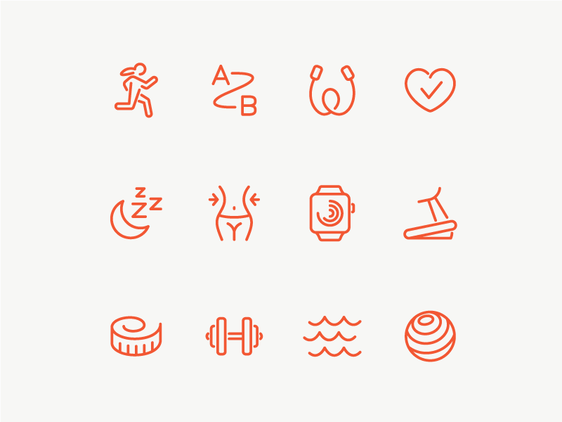 Fitness Icons health line vector ui fitness icon set icons icon