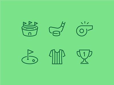 Sports line trophy whistle hockey stadium sports sport vector ui icon set icons icon