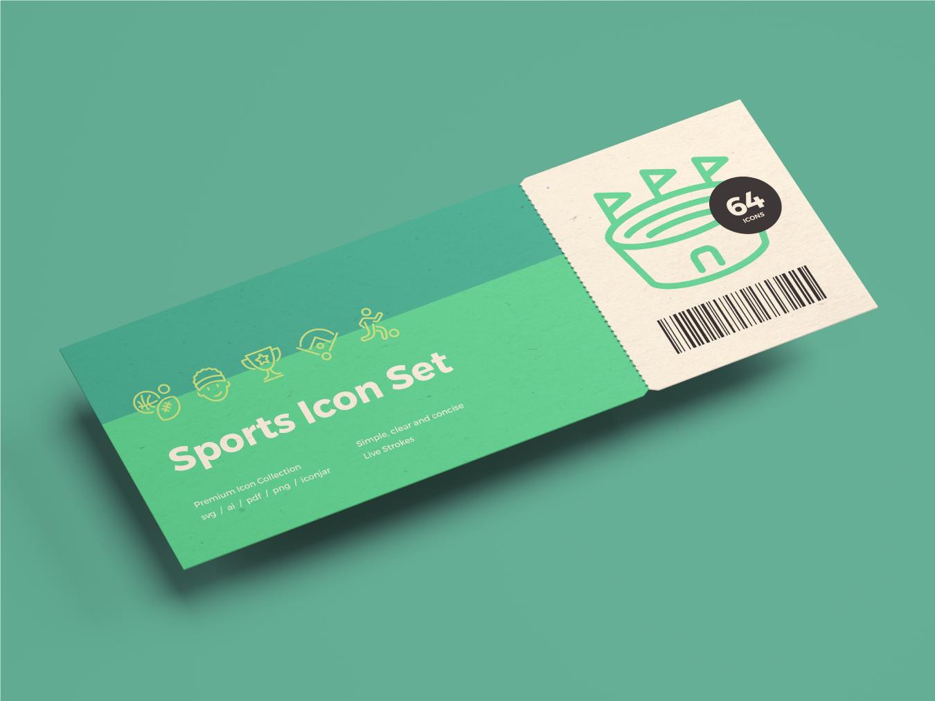 Sports Icons sports ticket illustration design vector icon ui icons icon set