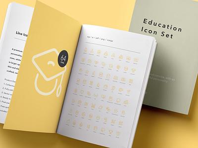 Education Icon Set ui learning school education line icons icon set icon