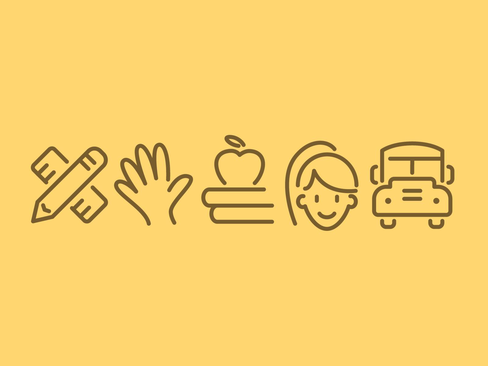 Education Icons learning school education icons vector ui icon set illustration icon
