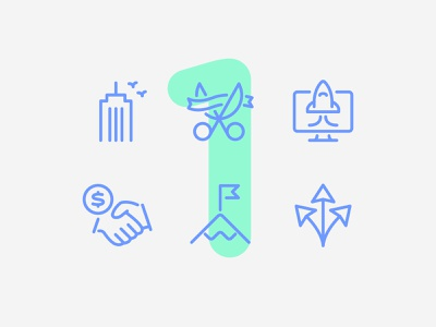 Day one here we come finance business 60 6ixty illustration line design interface app vector icon ui icons icon set