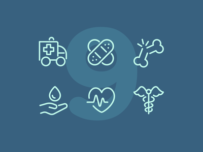 Day 9 health medical illustration interface vector icon ui icons icon set