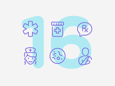 Day 16 medical health care health illustration line vector icon ui icons icon set
