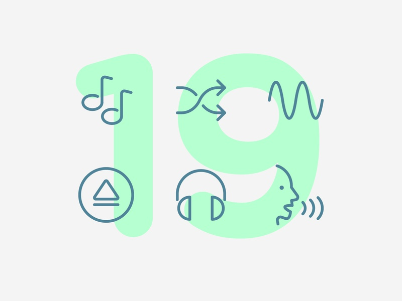 Day 19 sound music audio illustration line interface vector icon ui icons icon set