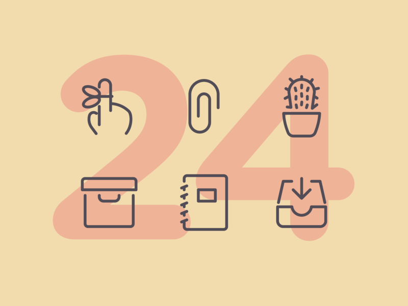 Day 24 business work office illustration line interface vector icon ui icons icon set