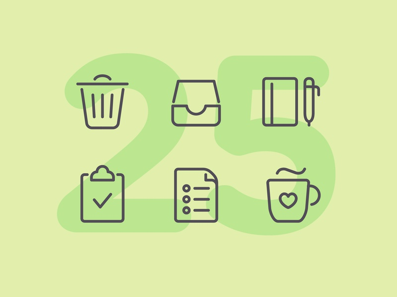 Day 25 home business work office illustration line interface vector icon ui icons icon set