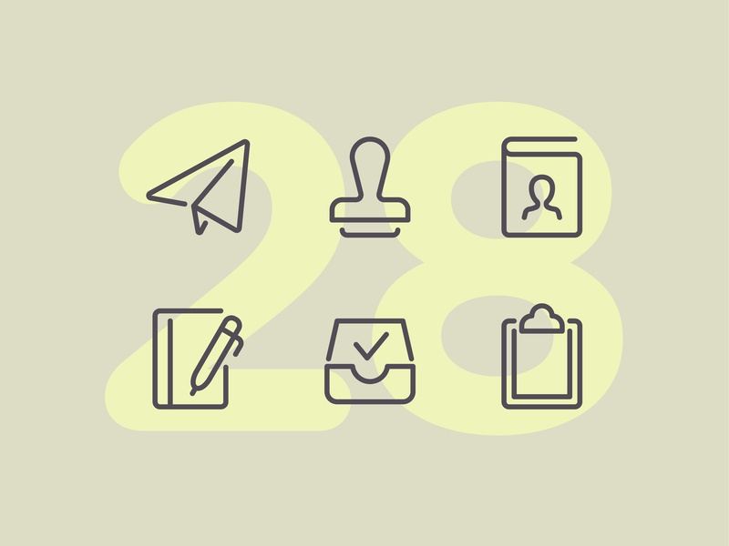 Day 28 office design work business office line interface vector icon ui icons icon set