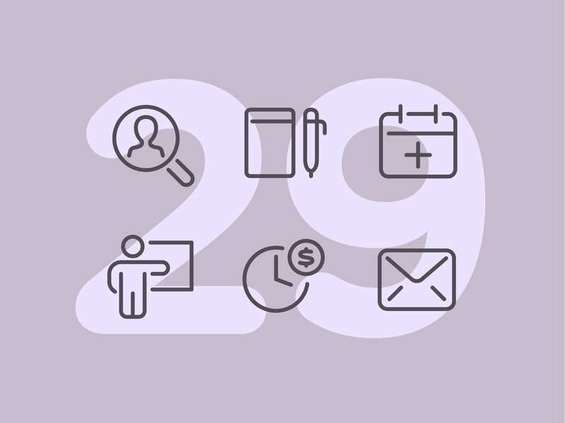 Day 29 work business office illustration app line interface vector icon ui icons icon set