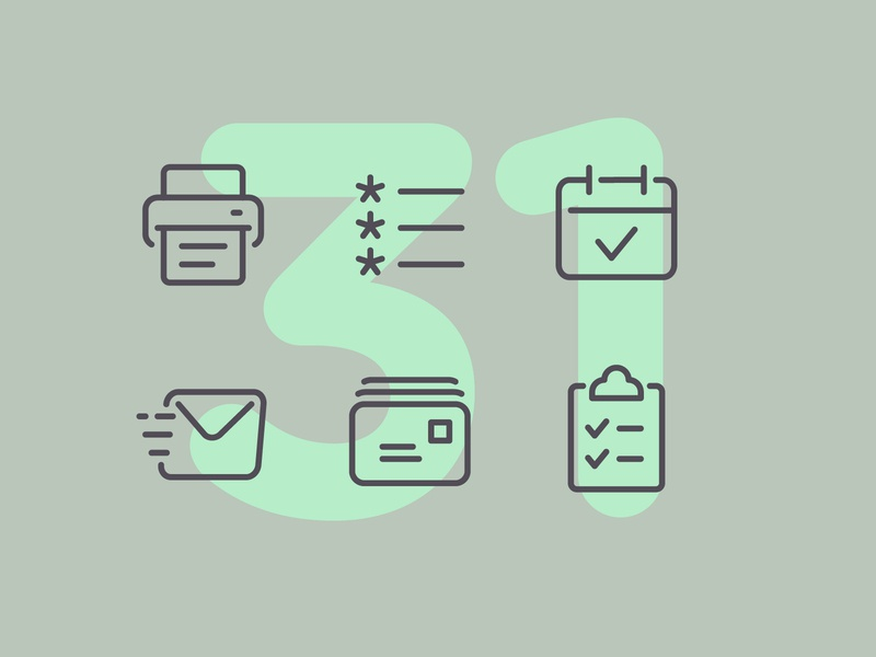 Day 31 office design business work office illustration line interface vector icon ui icons icon set