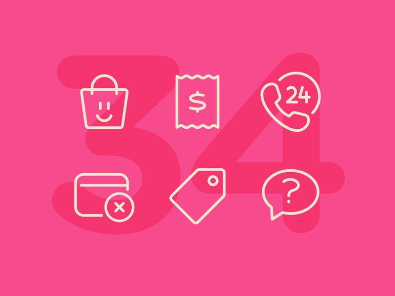 34 business illustration line interface vector icon ui icons icon set
