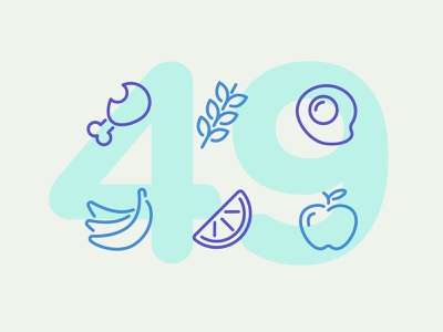 Day 49 food illustration line interface vector icon ui icons icon set