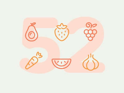 Day 52 icon set icons ui icon vector line illustration food