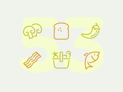 Day 53 food illustration line vector icon ui icons icon set